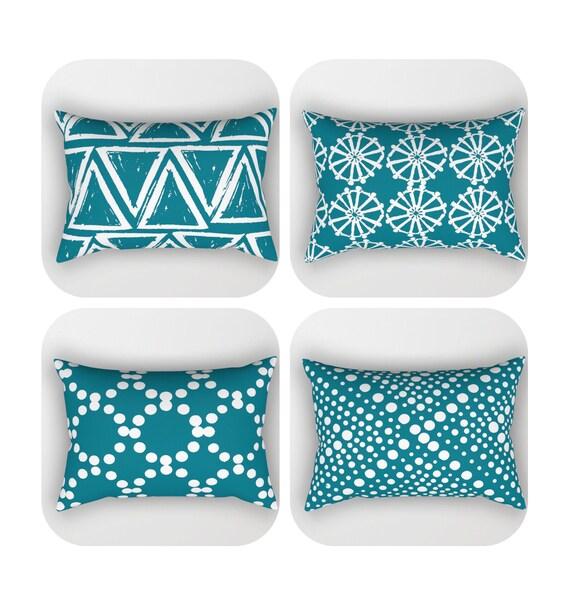 Oceanside Lumbar Pillow . Toddler Pillow . Geometric Pillow . Modern Cushion . Rectangular Pillow . Oceanside Pillow . Travel Pillow 14 x 20