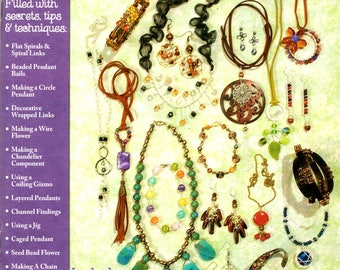 Wire Wrapping 101 Designs Step by Step Photos Jewelry Making Earrings Necklaces Craft Pattern Leaflet HOTP 2357