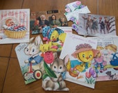 Lot of 7 Vintage Greeting Cards plus 2 Postcards from Norway 1914 and 1923