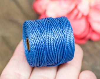 Navy  Jewelry Cord, Macrame Cord, .9mm, 35 Yard Spool,   S Lon  Tex 400, Nylon Bead   Cord -MC20