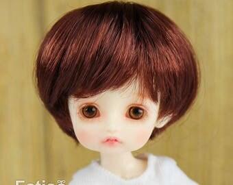 """Fatiao - New BJD Dollfie pukipuki BF Pocket 3-4"""" Doll Wig - Chocolate"""