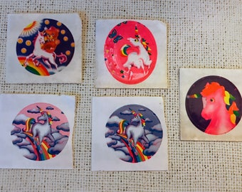 Vintage Lisa Frank unicorn stickers