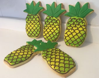 Huge Pineapple Cookies - 1 dozen