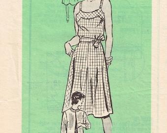 80s Sleeveless Sundress Pattern Anne Adams 4740 Bust 40 Summer Dress With Spaghetti Straps Jacket Uncut Vintage 1981 Sewing Pattern