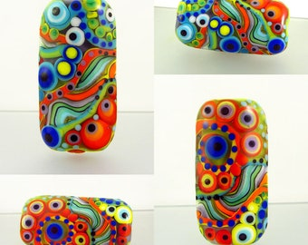 Roma - Dot Art, lampwork focal bead. it's a original Michou P. Anderson Design