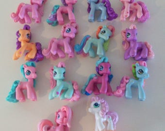 My Little Pony Ponyville Lot of 14 Mini Figures with Minty Hasbro MLP A