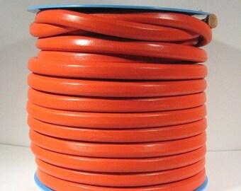 Regaliz Licorice Leather Tangerine - R31 - Choose Your Length