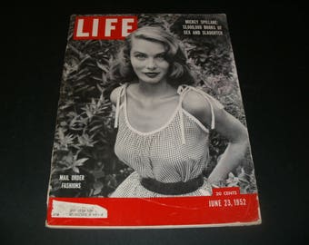 Vintage Life Magazine June 23 1952 - Cool Retro Ads Scrapbooking Paper Ephemera