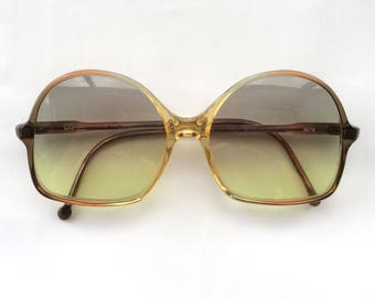 70s Vintage Funky Semi Round Frame Sunglasses