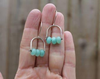 Hemimorphite, hemimorphite earrings, hemimorphite jewelry, green earrings, dangle earrings, gemstone earrings, drop earrings, boho earrings