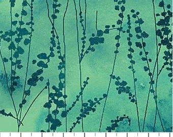 Northcott - Ambrosia - Vine Stems - Aegean Sea - Green Fabric by yard or select cut  21250-72