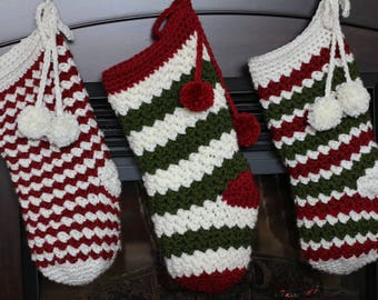 Crochet Christmas PATTERN Rainer Crochet Christmas Stocking Pattern