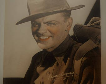 James Cagney Studio Photo Print 1940s Vintage Movie Actor Star Hollywood Premium WWI Doughboy Soldier