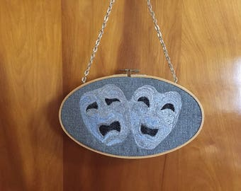 Hoop Wall Art - Tragedy and Comedy