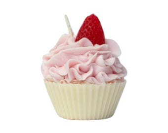 Cupcake Candle in Air Smooches Scent - Scented Soy Cupcake Candles