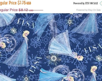 Gorgeous Elsa Fabric--from Movie FROZEN--Hard Find---So Cute--READY to ship out --LAST Piece
