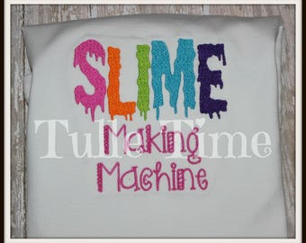 Slime making machine embroidered shirt top all sizes slime birthday party shirt