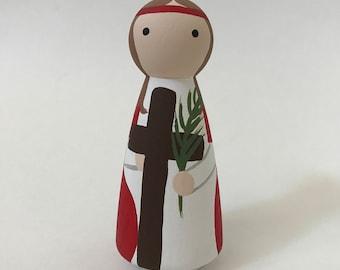 St. Julia of Corsica - Wooden Peg Doll