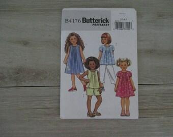 Uncut Sewing Pattern Girls Size 2-8  Dress Shorts Pants Top Blouse