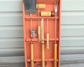 Vintage Androck Grill Tool Set / Mid Century Modern Grilling Tools / BBQ Outdoor Tools