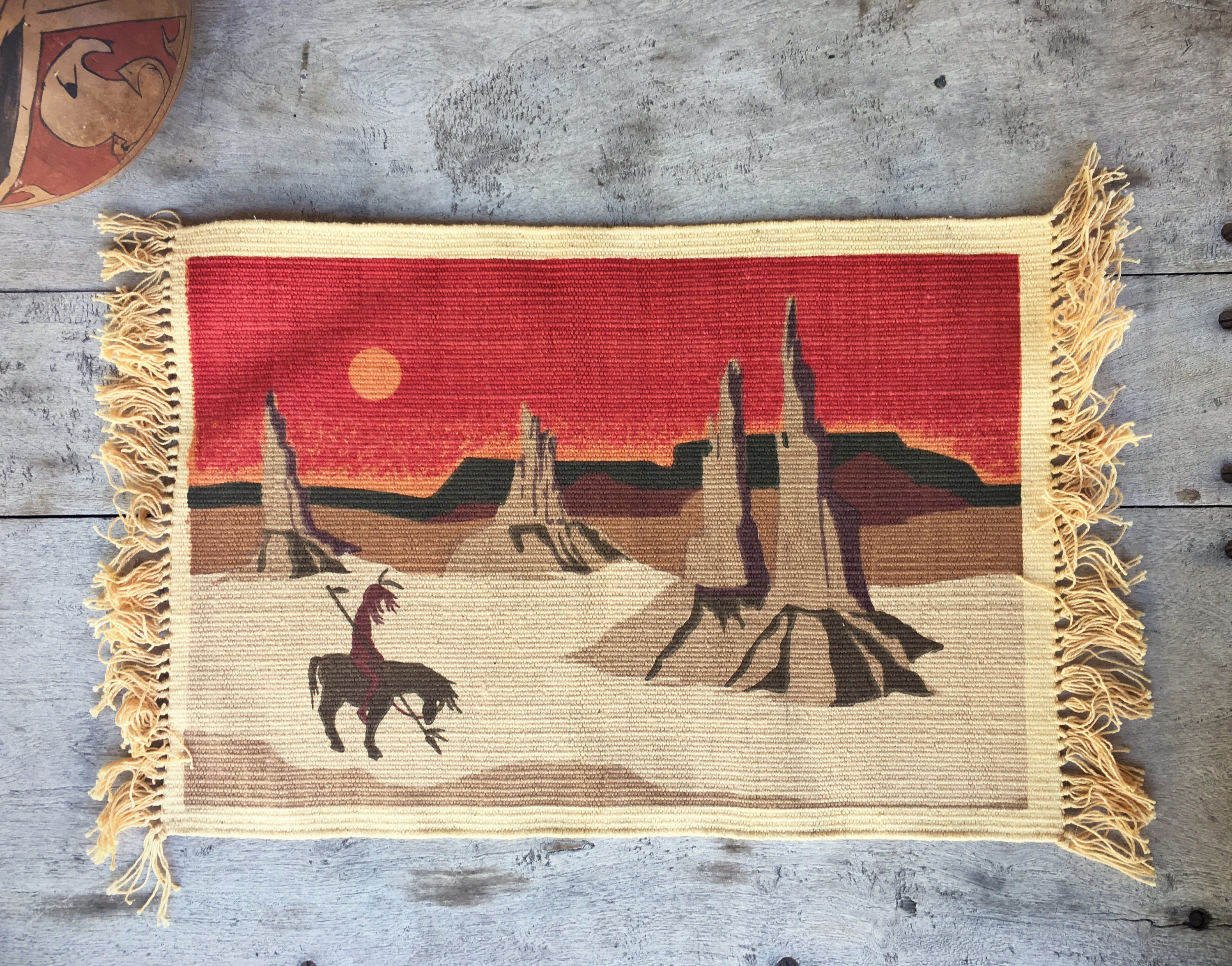 Southwestern Placemat End Of The Trail Southwestern Decor
