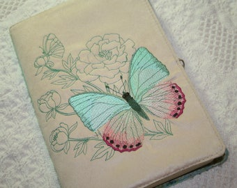 Butterfly Embroidered Book Cover