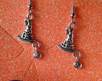 Halloween Earrings,Witch Hat Earrings