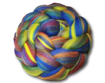 Rainbow Merino Combed Tops 100g Roving For Spinning Felting Weaving Handspin Your Own Yarn Craft Fiber Fibre