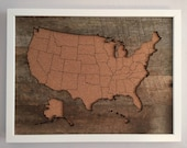 Cork & Reclaimed Wood Travel Map