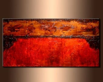 Original Modern Contemporary Textured Abstract Painting by Henry Parsinia