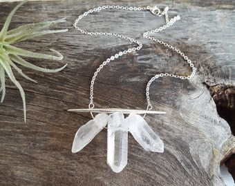 Raw Crystal Necklace Minimalist Necklace Necklace Raw Quartz Crystal Necklace Quartz Crystal Necklace Healing Crystals and Stones Jewelry