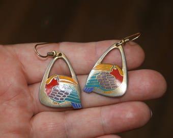 Two Pair Laurel Burch Earrings Toucan & Mali plus Free USA Shipping!