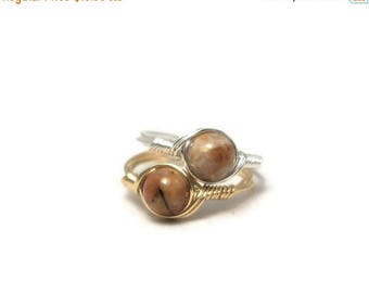 25% Off Sale Quartzite Ring Sterling Silver or 14k Yellow Gold Fill Wire