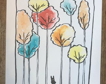 Color Trees Art Print