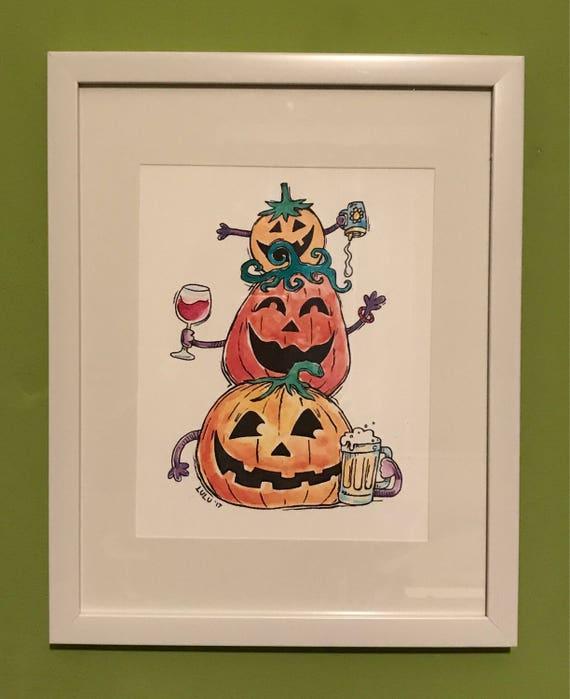 Cheers to Halloween! Art Print