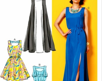 Sewing Pattern Pullover Dress Pattern, Pullover Long Dress Pattern, Easy Dress Pattern, McCall's Sewing Pattern 6952