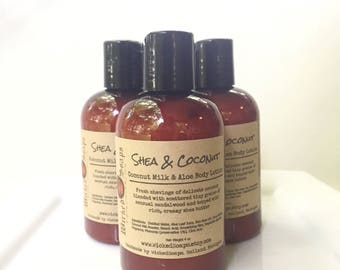 Shea and Coconut Body Lotion - Coconut Milk & Aloe Body Lotion with Cocoa Butter