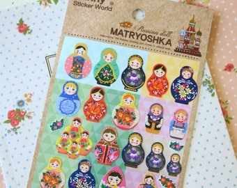 Funny Sticker World Russian Doll cartoon matryoshka stickers