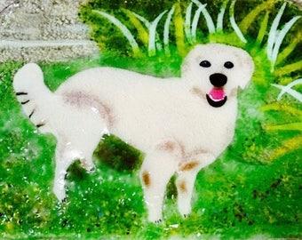 Fused Glass Dog Pet Golden Retriever Labrador Retriever Any Dog