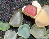 Sea Glass or Beach Glass of Hawaii beaches! RARE PURPLE! PINK! Jewelry quality!  Seaglass! Bulk Sea Glass! Sea Glass Bulk!