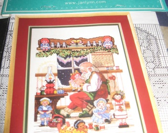Jannlynn's Just-a-chard counted cross stitch - Santa's Workshop