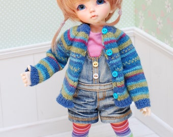 Knitting Cardigan for Littlefee YOSD Turquoise Green Blue