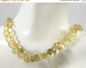 ON SALE Honey Quartz Beads Faceted Quartz Onion Briolettes Candy Kisses Earth Mined Gemstone - 7 or 15 Beads - About 6x6mm