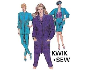 Kwik Sew 1568 Womens Jackets & Tights 80s Vintage Sewing Pattern Sizes XS - L UNCUT Factory Folds