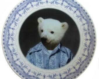 Pete the Polar Bear Plate 6.9""