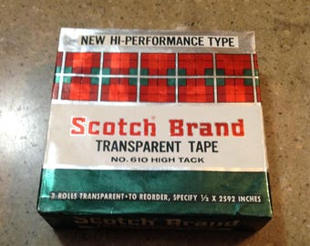 Vintage 3m Minnesota Mining Scotch Tape for Dispenser High Tack No. 610 Advertising Unopened Original Package