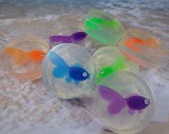 Goldfish Soap Favors | 15 Goldfish Surprise Soap | Fish Soap | Made to Order | Soap With Toy Inside | Fish Toy Soap | Children's Soap
