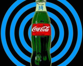 Coca Cola bottle Pop Art