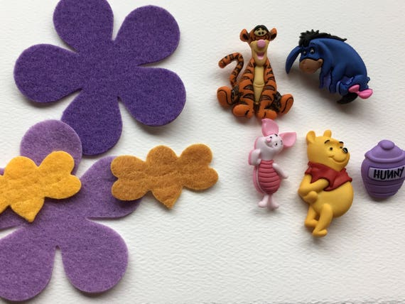 Winnie Pooh Buttons 100 Acre Wood Friends Embellishments