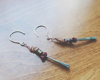Mixed Material Bohemian Earrings